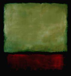 Mark Rothko, Green, Red on Black