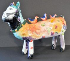 Growing up in a traditional Latin American village has been a determining influence on Vancouver, BC artist José Ventura's diverse bodies of work. American Village, Sculpture Painting, 3 D, Dinosaur Stuffed Animal, Sculptures, Ceramics, Statue, Gallery, Cats