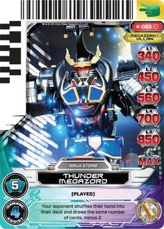 Thunder Megazord Power Ranger trading card