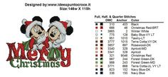 Mickey and Minnie Merry Christmas Cross Stitch Disney Christmas Stockings, Cross Stitch Christmas Stockings, Christmas Stocking Pattern, Xmas Cross Stitch, Cross Stitch Love, Christmas Cross, Counted Cross Stitch Patterns, Cross Stitch Charts, Cross Stitching