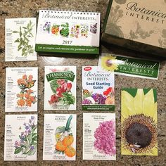 """Here's my order from @botanical_interests! Broadleaf sage, borage, Rosie O'Day alyssum, Jack Be Little pumpkin, Asclepias tuberosa milkweed and a free packet of lettuce mix. And a free desk calendar and sticker. Great presentation.  #gardenchat #plantchat #seedstarting #seed #vegetablegardening #growyourownfood #pollinators #savethepollinators #pollinatorgarden #plantforpollinators #savethebees #botanicalinterests #milkweed #growsomething #plantsomething #gardenplanning #gardenplanning2017…"