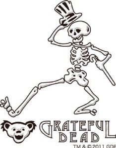 Amazon.com: Grateful Dead Dancing Skeleton Makie Cell Phone Sticker - White: Cell Phones & Accessories