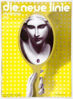magazine die neue linie, 1935. Cover Herbert Bayer / Dorland