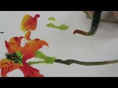顧老師國畫示範2017-05-04_0106(金針花) - YouTube Chinese, Youtube, Watercolour, Watercolor Painting Tutorials, Watercolor Paintings, Youtubers, Youtube Movies, Chinese Language