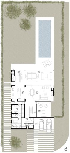 Image 23 of Ground Floor Plan The Plan, How To Plan, Modern House Plans, House Floor Plans, Craftsman Floor Plans, Villa Plan, Floor Plan Layout, Ground Floor Plan, House Layouts