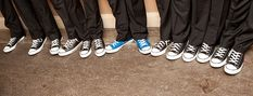 wedding converse for the men:) love the idea of the grooms shoes being a diff color. #DBBridalStyle