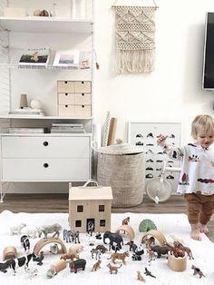Kids neutral playroom decor