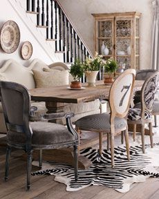 Decorating With Mismatched Dining Room Chairs - decoration,wood,wood working,furniture,decorating Mismatched Dining Room, Woven Dining Chairs, Dining Room Chairs, Dining Room Furniture, Dining Area, Settee Dining, Office Chairs, Outdoor Dining, Mismatched Furniture