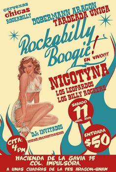 Rockabilly Boogie fifties poster