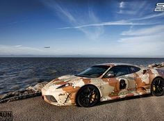 SSCustoms Vinyl Wrapping Camoflauge Graphics Ferrari F430 Side
