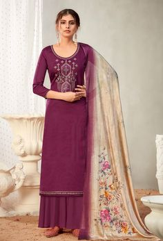 #Cotton #fabric is the #best #fabric in any #weathers, cotton #salwar #kameez is the best choice for any #girls or #womens, #Nikvik is the #bestseller of cotton salwar #suits in #USA #AUSTRALIA #CANADA #UAE #UK Cotton Salwar Kameez, Palazzo Suit, Back Neck Designs, Pakistani Suits, Traditional Dresses, Beauty Women, Sleeve Styles, Sharara Suit, Salwar Suits