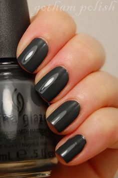 """another nail blog- Pictured: China Glaze """"Concrete Catwalk"""""""