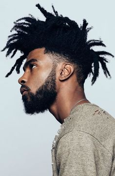 50 Of The Coolest Men's Black & Afro Hairstyles: Dramatic Dreads With Fade  #menshairstyles #menshair #afro #fade #dreads