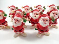 Vintage Christmas Santa Claus Light Covers by LivingAVntgLife