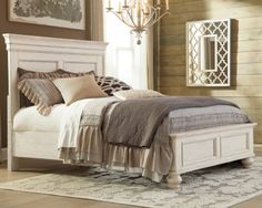 Marsilona King Panel Bed by Ashley HomeStore, White