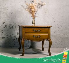 Antique Furniture Cleaning Tip: As Long As Your Furniture Is Sealed And The  Surface Isnu0027t Cracked, Endust Is A Safe Cleaning Product That You Can Use  On ...