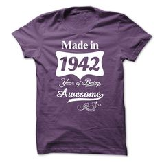 cool  1942 Years Of Being Awesome  Check more at http://bustedtees.top/age-t-shirts/who-sells-1942-years-of-being-awesome-review.html