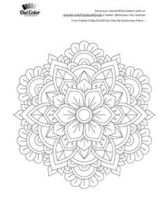 Best Picture For Tattoo Pattern For Your Taste You are looking for something, and it is going to tell you exactly what you are looking for, and you didn't find that picture. Free Adult Coloring Pages, Mandala Coloring Pages, Coloring Book Pages, Mandala Drawing, Mandala Painting, Dot Painting, Mandala Design, Mandala Pattern, Tattoo Fonts