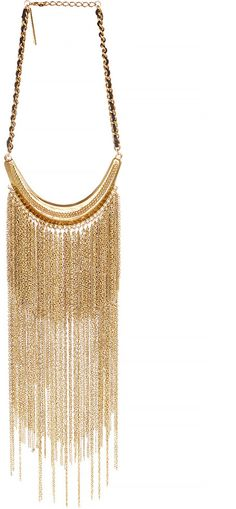 GOLDBARR Cascade Sky Fringe Necklace in gold on shopstyle.com
