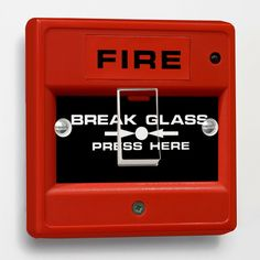 Red Fire Break Glass joke Light Switch Sticker to fit Crabtree 1-gang way 4070  - Get yours here: http://www.ebay.co.uk/itm/-/131172698014