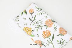 Flower fabric Flower pattern 44x35 100% Cotton 30s by KoreaBacol