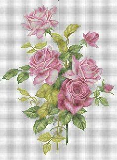"Photo from album ""OTWO"" on Yandex. Cute Cross Stitch, Cross Stitch Rose, Cross Stitch Flowers, Cross Stitch Charts, Modern Cross Stitch Patterns, Crochet Stitches Patterns, Cross Stitch Designs, Cross Stitching, Cross Stitch Embroidery"