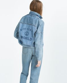 """Pin for Later: Don't Think You're Set For Spring Without These Zara Pieces  Zara """"I Am Denim"""" Collection Jacket ($70)"""