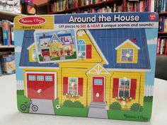 The Around the House Sound Puzzle is an interactive puzzle for young children. Each piece lifts out to reveal a room, each panel having its own unique sound. This puzzle helps children with fine motor skills, color, sound identification and how to identify the different rooms in the house. Book Gifts, Young Children, Fine Motor Skills, Puzzle, Rooms, Unique, House, Color, Children