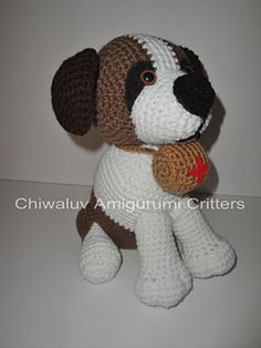 The Angel Rescue of the k-9 world, brings inspiration for this cuddley sweet Saint Bernard plushie.