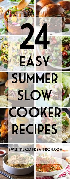 Don't forget about your slow cooker this summer! Using the slow cooker is the best way to keep your oven off, and have dinner ready with minimal effort. I have you covered with a variety of salads, burgers, tacos and pasta recipes!