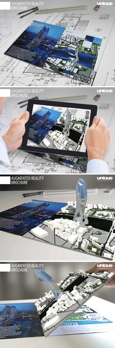 Augmented Reality brochure by Unique AT is the ultimate mobile presentation system for showcasing architectural designs and concepts. #augmented_reality #architectural_app #architectural_visualisation #architectural_presentation