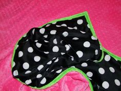 Hot Pink, Lime and Black and White Jumbo Dot Minky Blanket- Ships in 1-3 Days