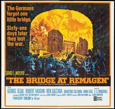 "Movie Posters:War, The Bridge at Remagen (United Artists, 1969). International SixSheet (77"" X 80""). War.. ..."