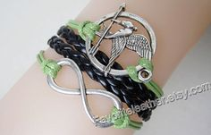 Mockingjay anklets fire unlimited leather by Favoriteleather, $5.99