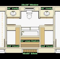 Jack And Jill Bathroom Floor Plans May Become Your Best Option For Your  Kidsu0027 Bathroom. Why? This Bathroom Requires Two Different Bedrooms, So Thatu2026