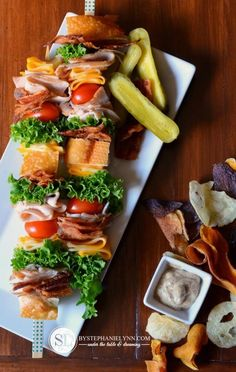 Brochettes de club sandwich
