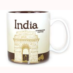 Starbucks India Mug. Features the India Gate landmark & a Cricket player, both iconic symbols of India. Part of the Global Icon Collector's Series. SKU # 011023213. | eBay!