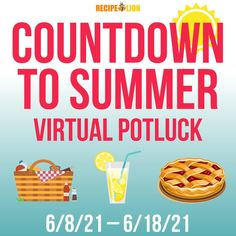There are only two days left in the Countdown to Summer Virtual Potluck. Join us and our friends at RecipeLion as we celebrate the arrival of summer! Summer Salad Recipes, Potluck Recipes, Barbecue Recipes, Fruit Recipes, Summer Salads, Summer Potluck, Easy Summer Meals, Summer Fun, Spaceship Craft