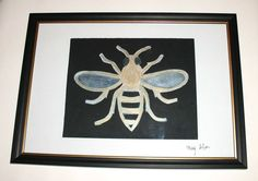 Bee Painting Watercolour and Acrylic Original Craft with Frame A4 http://stores.ebay.co.uk/magzeben/