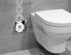 €95 RVS inbouw toiletrolhoudervoor 6 closetrollen Bathroom Layout, Bathroom Interior Design, Modern Interior, Small Bathroom, Interior Architecture, Bad Inspiration, Bathroom Inspiration, Deco Zen, Small Toilet