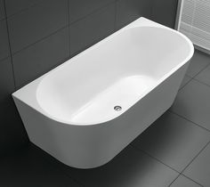 Looking for a round acrylic back to wall bath tub? Bathrooms On A Budget has a Range to Suit every Style and Budget. round back to wall bath tub.