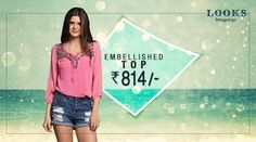 Pink it up with embellishments! Buy the embellished top for Rs. 814 Shop Now: http://bit.ly/29eMW3O  #TogofogoLooks
