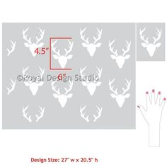 Decorating Nursery Decor Ideas with Forest Animals and Deer - Bonnie Christine Designer Wall Stencils for Royal Design Studio