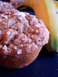100% whole wheat banana muffins - made these tonight, but replaced the applesauce and molasses with canned pumpkin.  so good!