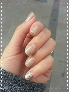 Nude gel, deep french for winter