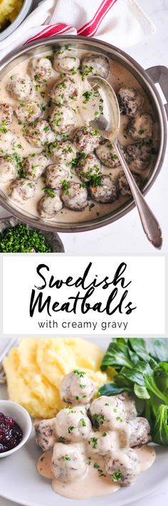 Swedish Meatballs with Creamy Gravy | eatlittlebird.com