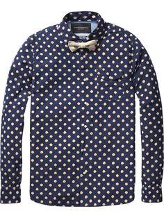 Indigo Shirt |Shirt l/s|Men Clothing at Scotch & Soda