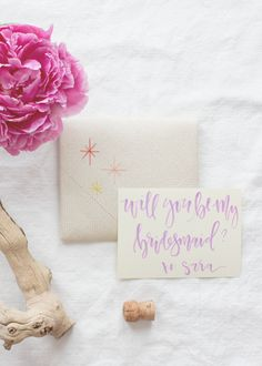 Cute and personal way to ask someone to be your bridesmaid.