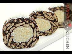Salam de biscuiti Raffaello ,salam de biscuiti cu nuca de cocos si lapte condensat - YouTube Romanian Desserts, European Dishes, Oreo, Bacon, Muffin, Sweets, Cookies, Breakfast, Food