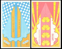 """Published in a small format paperback in 1971, the Peter Max Paper Airplane Book is beyond cool.  Each page features amazing graphics, and a foldable paper airplane so that kids could """"get [their] message across with a paper airplane in cosmic colors!"""""""